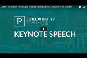 "Keynote ""Opportunities for private equity in the green industrial revolution"""